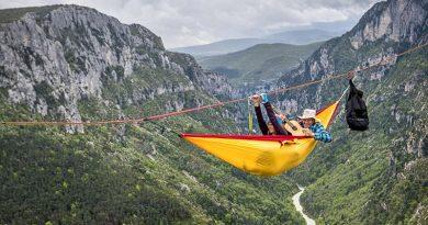 yellow rockhopper hammock tent