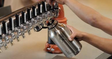 hydro flask growler on tap
