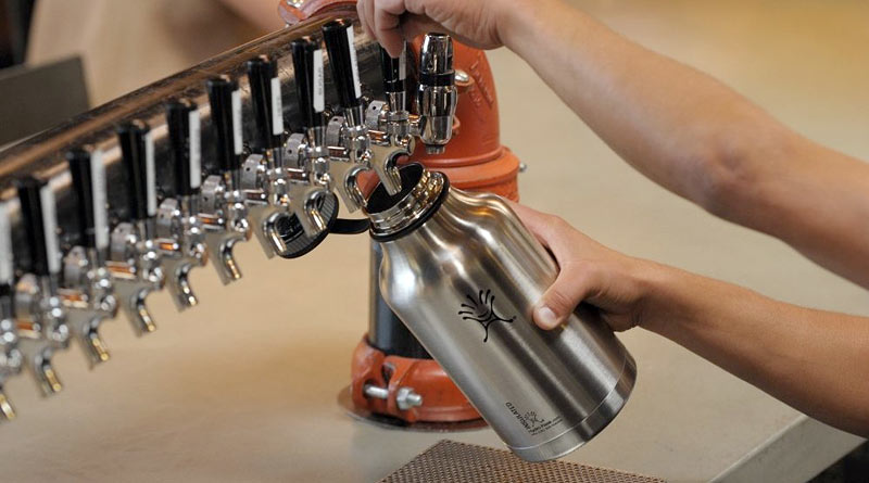 hydro flask growler on tap